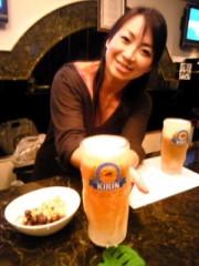 賀川照子 公式ブログ/3日ビールで乾杯 画像1
