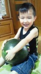 ジャガー横田 公式ブログ/大きな西瓜!! \(^^)/ 画像1