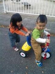 ジャガー横田 公式ブログ/初めての三輪車!(^o^)v 画像1