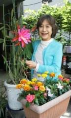 天地総子 公式ブログ/花の競演 画像1