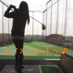 下島美来 プライベート画像 ゴルフ☆