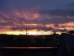 月野魅邑 公式ブログ/あ!綺麗〜な夕焼け 画像1
