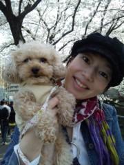 小山田みずき 公式ブログ/お花見中 画像1
