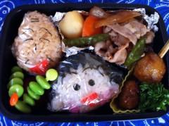 斉藤カオリ 公式ブログ/AOMAMA弁当☆ちびまるこちゃんと友蔵 そして すぎるくん 画像1