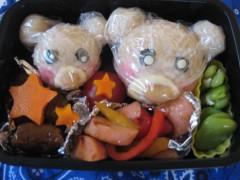 斉藤カオリ 公式ブログ/AOMAMA弁当☆くまさん親子弁当&豆しば入り焼きそば弁当 画像1