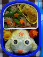 斉藤カオリ 公式ブログ/幼稚園弁当☆ケロロ軍曹であります! 画像1