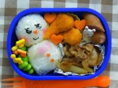 斉藤カオリ 公式ブログ/昨日の愛妻?弁当とゆきだるまさん 画像1