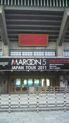 kyohey(breath of Minority) 公式ブログ/MAROON5 in 武道館 画像1