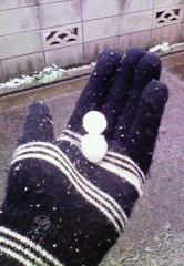 """中山孟 公式ブログ/2月11日の目標〜""""雪だるま""""作りました♪♪〜 画像1"""