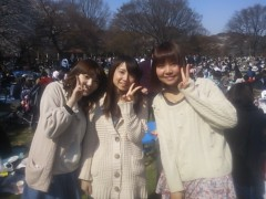 米澤円 公式ブログ/お花見☆ 画像2