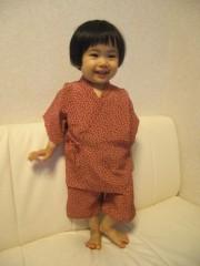 田村月子 公式ブログ/手作り甚平と母子分離 画像1