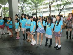 信岡由紀子 プライベート画像/usa☆usa少女倶楽部 東京国際フォーラム打ち水イベント2011