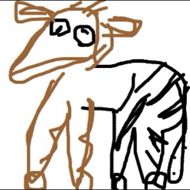 お尻がシマウマ、頭が鹿の動物知ってる?私は知らない。ぱなぴー