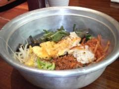 木下博勝 公式ブログ/アルミのタライで食べるビビンハ゜ 画像1