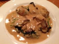 アクア新渡戸 公式ブログ/牡蠣とホーレンソーのソテー 画像1