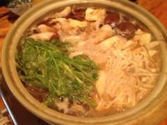 アクア新渡戸 公式ブログ/初きりたんぽ鍋完成 画像1