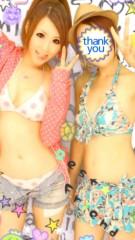 朝弓紗名 公式ブログ/水着でプリ\(*≧▽≦)/ 画像1