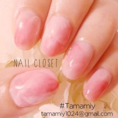 山下珠美 プライベート画像 ◆ニュアンスピンクで桜ネイル◆