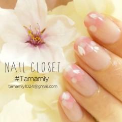 山下珠美 プライベート画像 ◆爪先に満開桜フレンチ◆