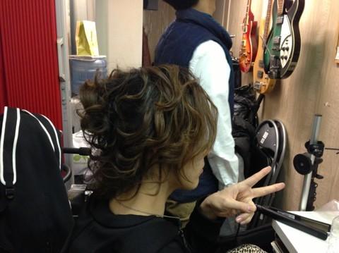 二部の髪型完成!