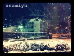 宇佐見ゆう 公式ブログ/雪だ! 画像2