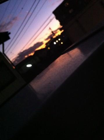 最近夕陽が綺麗だな〜っと