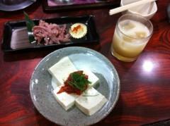 つばさ 公式ブログ/生搾りオレンジマッコリ&チャンジャ豆腐♪ 画像1