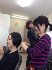 長澤奈央 公式ブログ/メイク室にて。 画像1