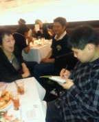 東ちづる 公式ブログ/『モナリザを描く』がレストランで♪ 画像3