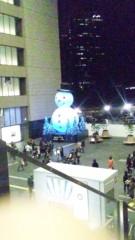 新垣桃菜(JK21) 公式ブログ/大阪駅のでっかい雪だるま! 画像2