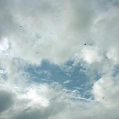 カトウトモタカ 公式ブログ/今日の曇り空の中、一瞬の青空を撮ったら…レンズのゴミがけっこう写っちゃいました。むー。 画像1