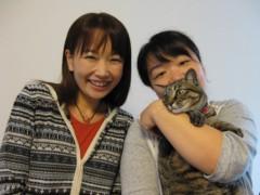 篠崎菜穂子 公式ブログ/ネコちゃんとお仕事 画像3