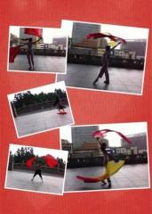 藤岡麻美 公式ブログ/旗と扇の自主練習二日目  画像1