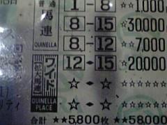 愛知万博(chu×3チューブ) 公式ブログ/2009年競馬結果軌跡1 画像1