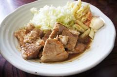 川島けん 公式ブログ/[Lunch]ニンニク生姜焼き定食 画像1