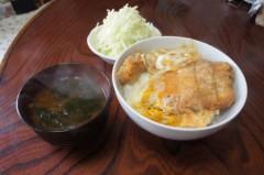 川島けん 公式ブログ/[Lunch]カツ丼キャベツ 画像2