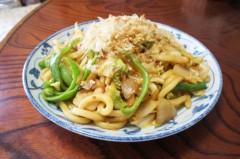 川島けん 公式ブログ/[Lunch]キャベツたくさん焼きうどん 画像1