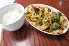 川島けん 公式ブログ/[Lunch]きくらげと椎茸の卵炒めと豚肉とピーマンのオイスター炒め。 画像1