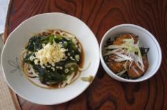 川島けん 公式ブログ/[Lunch]冷やしたぬきうどんと小つくね丼。 画像2