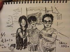 川島けん 公式ブログ/似顔絵書いてもらいました。 画像1