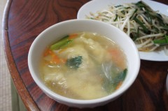 川島けん 公式ブログ/[Lunch]もやしにら炒めと鳥ワンタン春雨スープ。 画像2