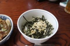 川島けん 公式ブログ/[Lunch]山ワサビ丼と鶏皮煮込み。 画像2