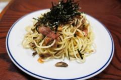 川島けん 公式ブログ/[夜食]ニンニクと舞茸ベーコンパスタ 画像1