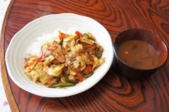 川島けん 公式ブログ/[Lunch]ピリ辛赤味噌炒め 画像1