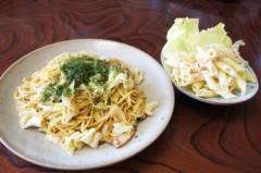 川島けん 公式ブログ/[Lunch]ソース焼きそばとマカロニサラダ 画像1