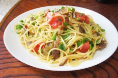 川島けん 公式ブログ/[Lunch]焼き塩鯖と小ネギパスタ 画像1