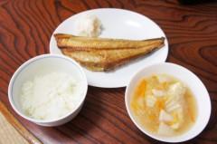 川島けん 公式ブログ/[Lunch]縞ほっけの一夜干しと鳥団子の春雨スープ。 画像1