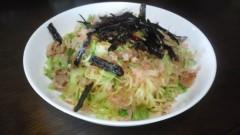 川島けん 公式ブログ/Lunch 塩焼きそば。鶏がらスープの素がベース味です。 画像1