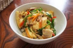 川島けん 公式ブログ/[豚肉ピーマン豆腐のオイスター炒め丼]涼しいかな。 画像1