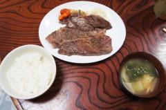 川島けん 公式ブログ/[OneCoinDinner]ステーキセット 画像2